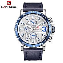 NF9137 Man Watch Quartz Watch Leather 3ATM Waterproof Date Week Hour Watch