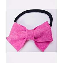 Pink Felt Bow Headband