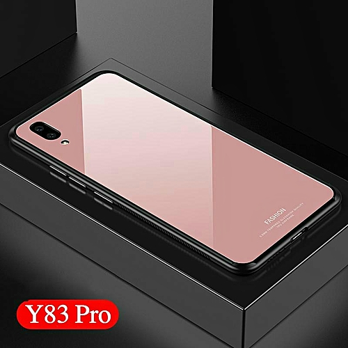 new concept 07dde 51942 Glass Case For VIVO Y83 Pro Full Protection 9H Tempered Glass Back Cover  For VIVO Y83 Pro Casing Shell 276286 (Pink)