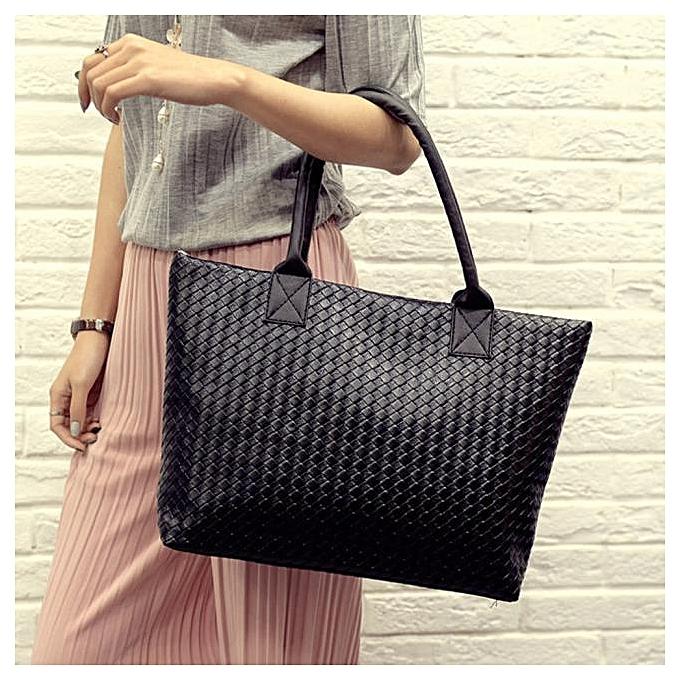 ee192cbaf5 Africanmall store Women Handbag Shoulder Bag Leather Messenger Hobo Bag  Satchel Purse Tote Black-Black