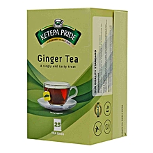 Premium Tea Ginger Flavoured Enveloped 25 Tea Bags - 50g