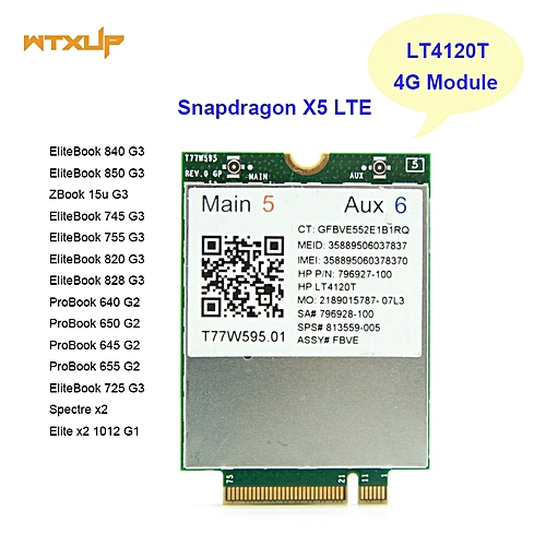 LT4120 Snapdragon X5 LTE T77W595 796927-100 4G WWAN M2 MODULE For HP  Probook/EliteBook 820 840 850 745 G3 faster than ME906E