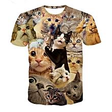 Men Summer 3D T-Shirt - Multi Color