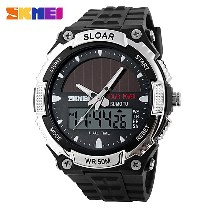Men's Watches Luxury Outdoor Mens Watches Skmei Waterproof Solar Power Digital Watch Fashion Men Clock Sports Wrist Watches Relogio Masculino Digital Watches