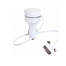 Car charger for iphone, Pad and smartphones - White