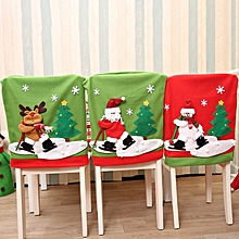 New Year Christmas Chair Back Cover Santa Claus Snowman Elk Hat Christmas Decorations for Home