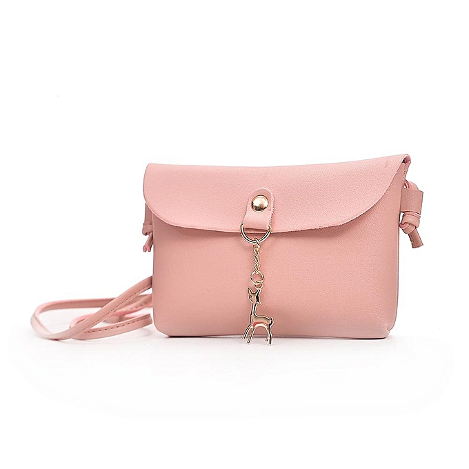 8cea5598a6b1 3 Colors Shoulder Bag Messenger Bag Women Casual Style Mini Deer Pendant PU  Single