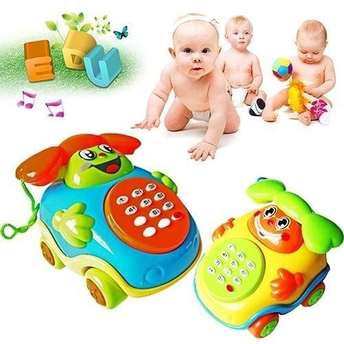Baby Music Car Cartoon Buttons Phone Educational Intelligence Developmental Toy