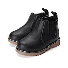 Winter Children kids Martin Boots Snow Baby Shoes Toddler Boys Girls Boots Black-EU