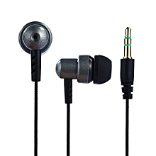 GuoaivoUniversal 3.5mm In-Ear Stereo Earbuds Earphone For Cell Phone  -black
