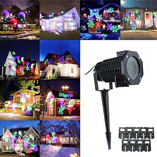 10,Pattern,Projector,Light,Halloween,Xmas,Party,Laser,Lighting,Remote,Controller
