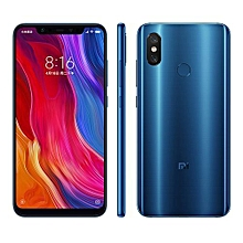 Mi8 4G, 6GB Ram+128GB Rom- 6.21 inch AMOLED - Qualcomm Snapdragon 845- 20 Selfie Camera- Dual SIM (Blue)