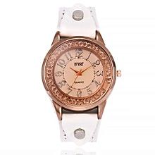 Olivaren CCQ Women's Casual Quartz Leather Band Newv Strap Watch Analog Wrist WatchWhite
