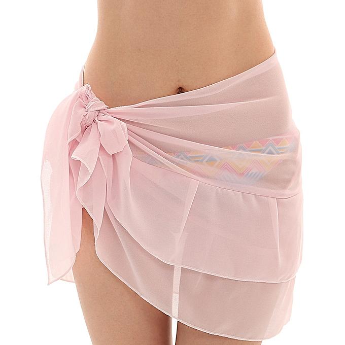 c0e3f3a89a05d jiahsyc store Women Chiffon Sunscreen Shawl Beach Bikini Swimwear Wrap  Coverup Skirt Swimsuit