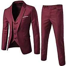 Stylish 3 Pcs/sets  Men's Formal Slim Business Bridegroom Suits Blazer