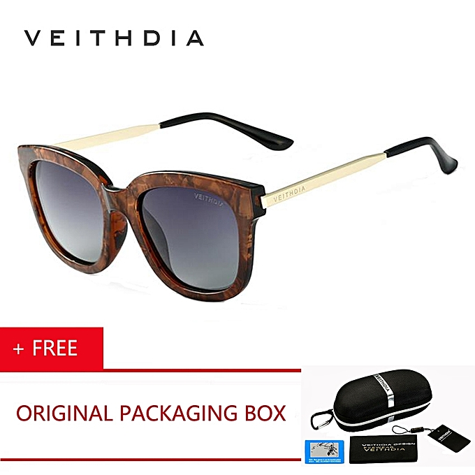 195027e5ff VEITHDIA Brand Retro TR90 High-grade Ladies HD Lite Polarized Sunglasses  Big Star Manufacturers Glasses
