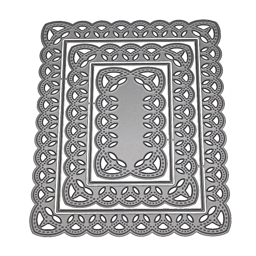 Buy Generic Multi Layer Hollow Square Flower Frame Scrapbooking Dies