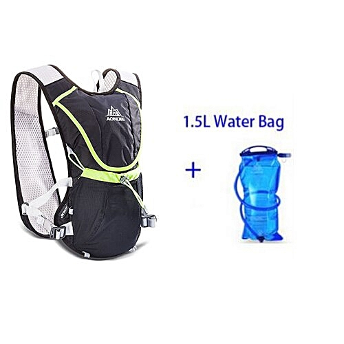 52934bb67746 8L Outdoor Sport Running Backpack Marathon Trail Running Hydration Vest  Pack for 1.5L Water Bag Cycling Running Bag(black with bladder)