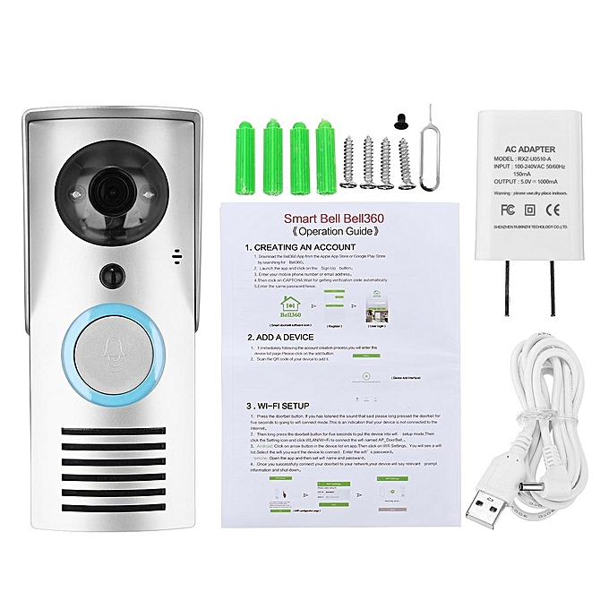 Universal Smart WIFI Wireless Doorbell Camera Phone Intercom