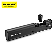 Awei T8 Mini TWS Twins True Wireless Bluetooth V4.2 Earbuds Headset with Charging Base-BLACK