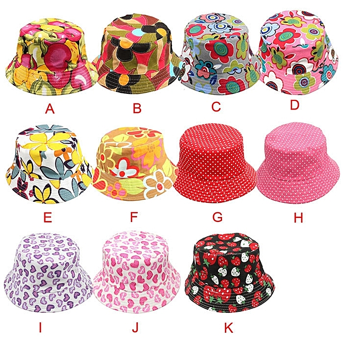 88666395011 ... jiuhap store New Cute Kids Girl Baby Summer Outdoor Bucket Hats Cap Sun  Beach Beanie Hot