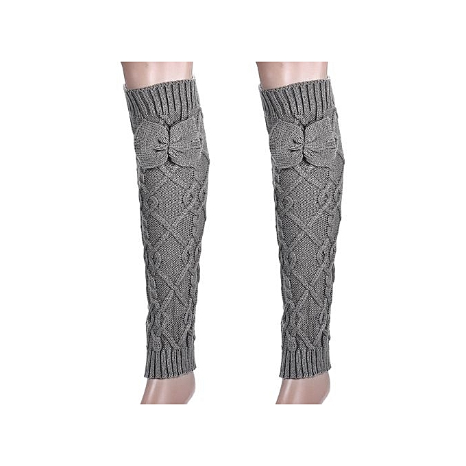 982e16ead Eissely Women s Cable Knit Leg Warmers Socks GY   Best Price