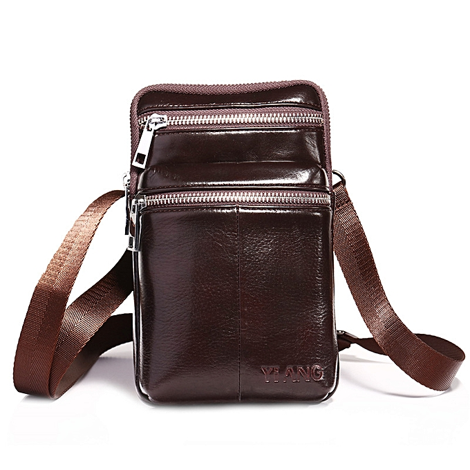 919717399 Shoulder Sling Bag Crossbody Bags For Men Cow Leather Fashion - Coffee ...