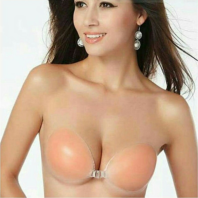 0caa16a925 Generic Backless strapless self adhesive push up bra - nude colour ...