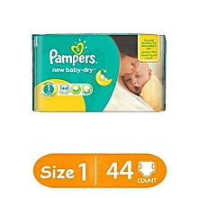 Baby Dry Newborn Diapers, Size 1 (Count 44)