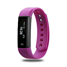 ID115 - Sports Heart Rate Smart Wristband Fitness Watch - Purple