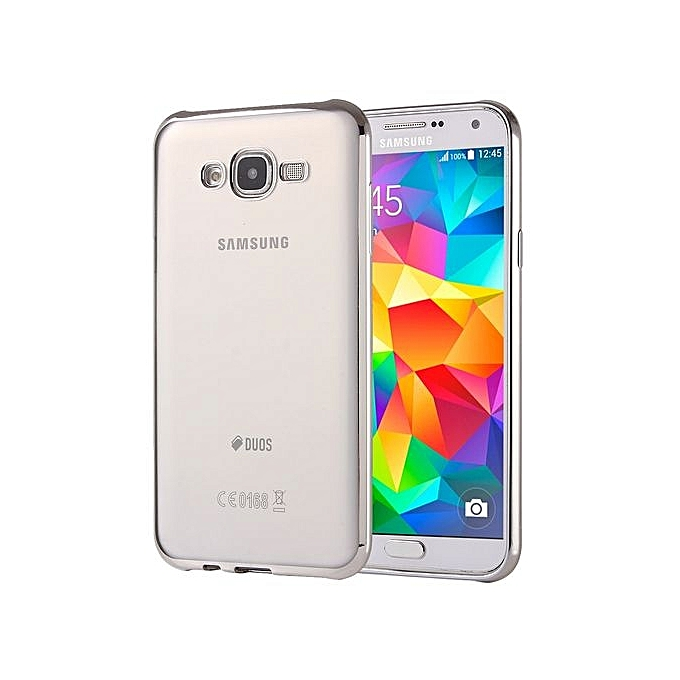 the best attitude 05d4b d3af6 Electroplating Soft TPU Protective Cover Case For Galaxy Grand Prime / G530  (Silver)