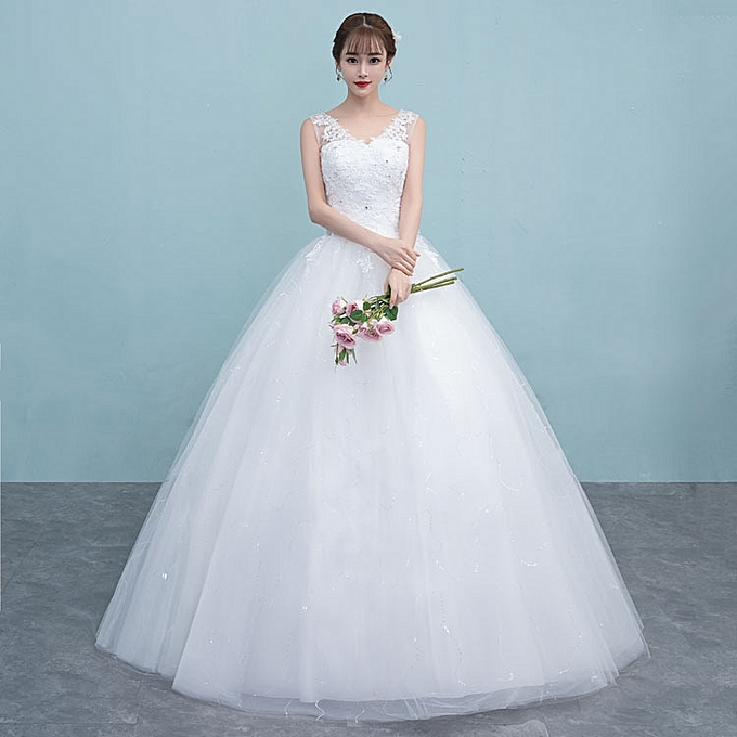 AFankara Wedding Dresses-White @ Best Price