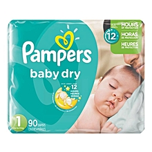 Disposable Diapers Jumbo Pack Size:1 (0 -36 Months) - 90 Diapers