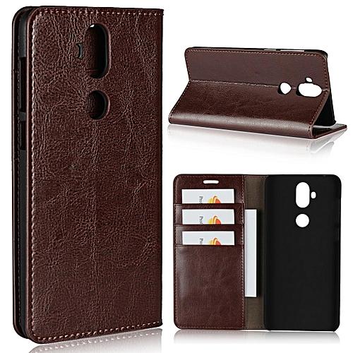 official photos 29470 9c8d8 Luxury Real Leather Wallet Case Cover for Asus Zenfone 5 Lite ZC600KL