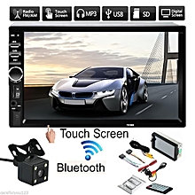 7'' Touch Screen 2Din Car Radio FM AUX Player Bluetooth USB TF + Car Rear Camera