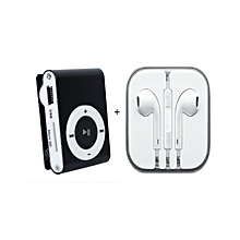 MP3 Player With free iPhone High Quality Ear Pods - Black