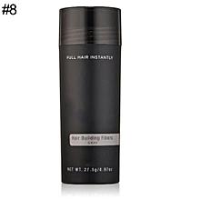 Unisex Hair Building Fibers 9 Colors Hair Loss Solutions Full Hair Powder 27.5g-8#