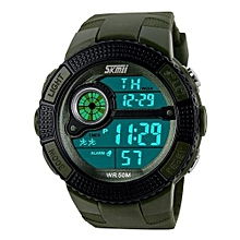 1027 Brand Sports Fashion LED Digital Watches For Men Military Waterproof Outdoor Wristwatches - Urban Camouflage