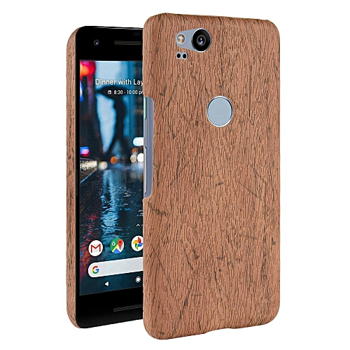 save off 4e487 b428d Pixel 2 Case, [wood Texture] PU Leather + Hard PC Protective Case Cover for  Google Pixel 2
