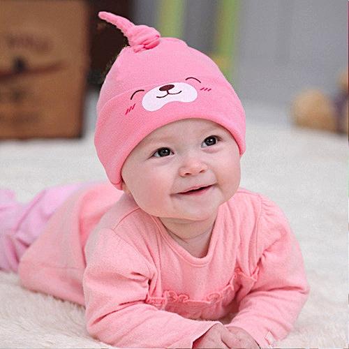 8eaebb25b504a4 Generic jiuhap store Sweet Baby Girls Boys Cartoon Toddlers Cotton Sleep Cap  Headwear Hat - Pink
