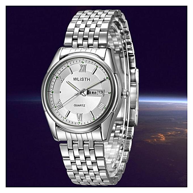 New Business Watches Men Quartz Watches Classic Calendar Bracelet Watch Top  Brand Luxury Male Clock Nightlight 2c0008bf8ec7