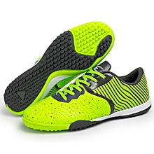 Zhenzu Outdoor Sporting Professional Training 3D Stereoscopic Print Antislip Football Shoes, EU Size: 32(Green)