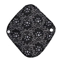 Reusable Bamboo Cloth Washable Menstrual Pad Mama Sanitary Towel Pad Black S