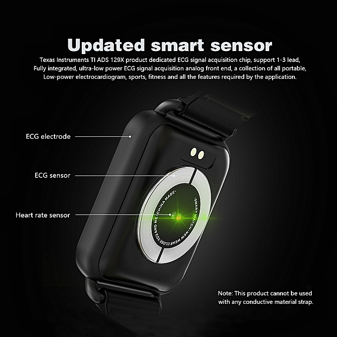 Newwear Q13 Bluetooth Smart Watch ECG+PPG Waterproof Heart Rate For Android  IOS