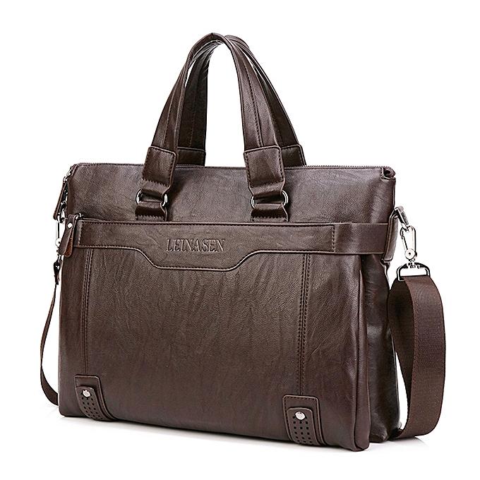 Men Handbags Fashion Business Men Briefcase Bag pu Leather Laptop Bag  Casual Zipper Design Man handbag 9c720ee38d029