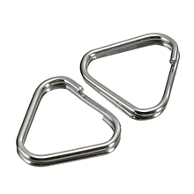 Replacement Metal Chrome Finish Split Ring Camera Strap Triangle Rings Hook Set Of 2