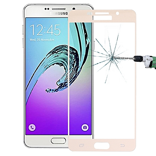 dac917a8134d Generic For Samsung Galaxy A7 (2016)   A710 0.26mm 9H Surface Hardness  Explosion-proof Silk-screen Tempered Glass Full Screen Film (Gold)   Best  Price ...