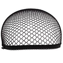 Stretch Cool Mesh Weaving Wig Cap Cloth Hair Nets Hairnet Snood Cosplay Model-Black