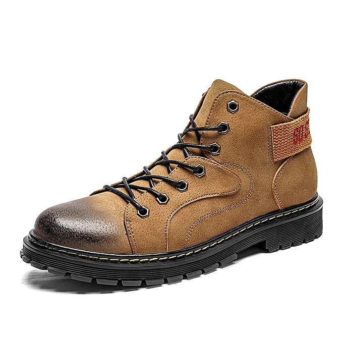 SocNoDn Mens Boots Leather Male Work Engineer Safety Boot Shoes ... 5ce7a47b5
