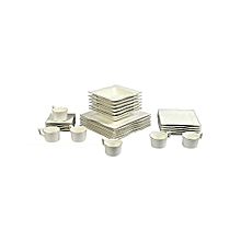 30pc - Weida Square Crockery Set - White